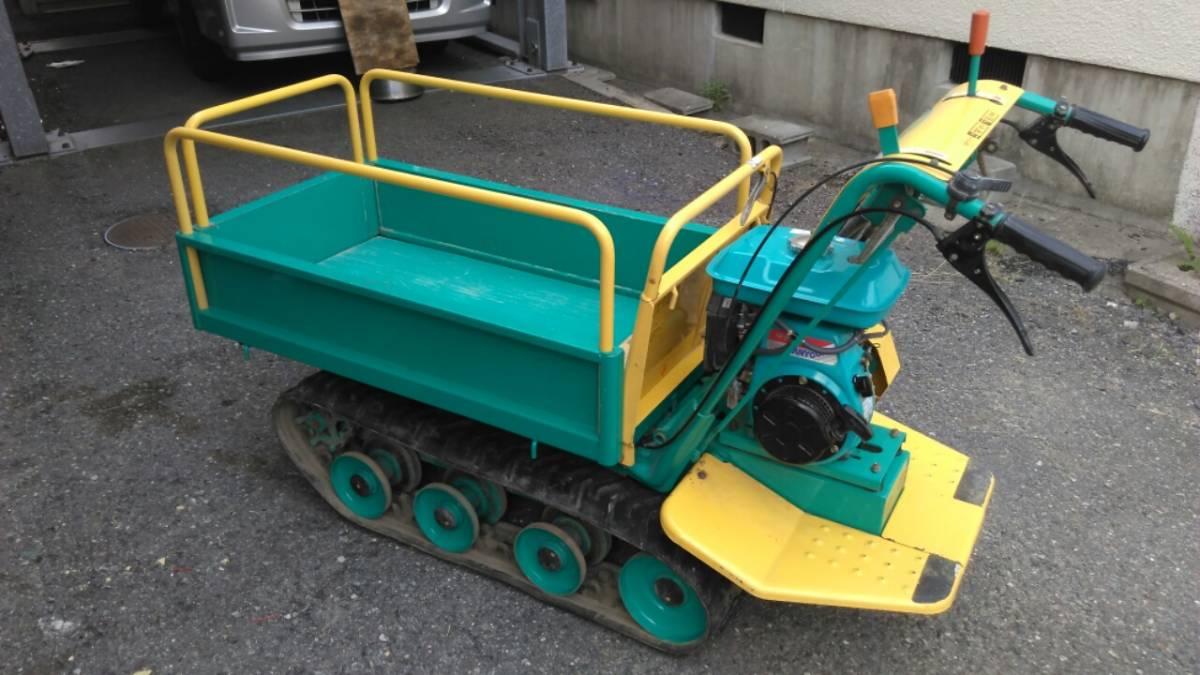 大阪吹田 引取限定 築水キャニコム BFP-307 クローラー運搬機 サイドフレーム仕様 中古良品 整備済み 農業応援します!お安くどうぞ!_画像2