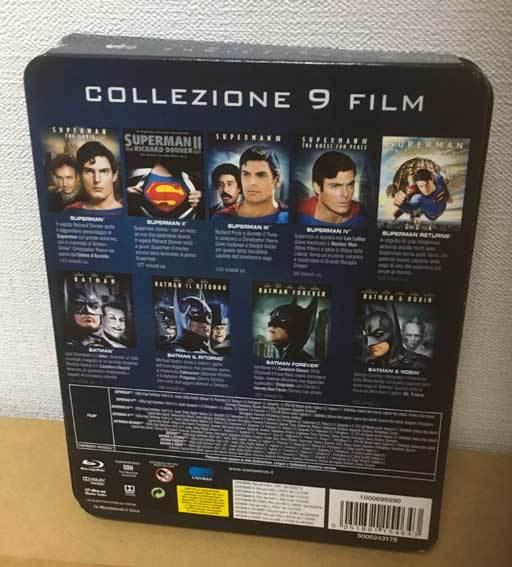バットマン/スーパーマン アンソロジー全9作(イタリア版・スチール缶)ブルーレイ 日本語収録_画像2