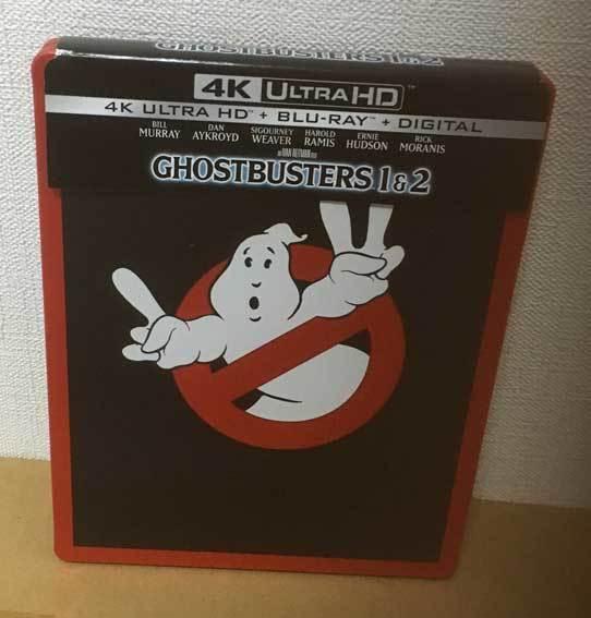 ゴーストバスターズ / ゴーストバスターズⅡ(アメリカ版スチールブック4K Ultra HD/Blu-ray)日本語収録