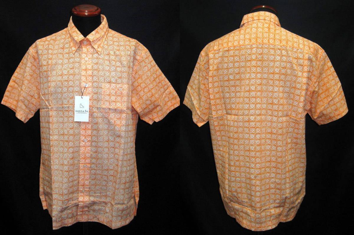 ★訳あり【wakuwaku¥21,780⇒¥5,999新品サンタフェ・半袖シャツ・オレンジ・L】日本製