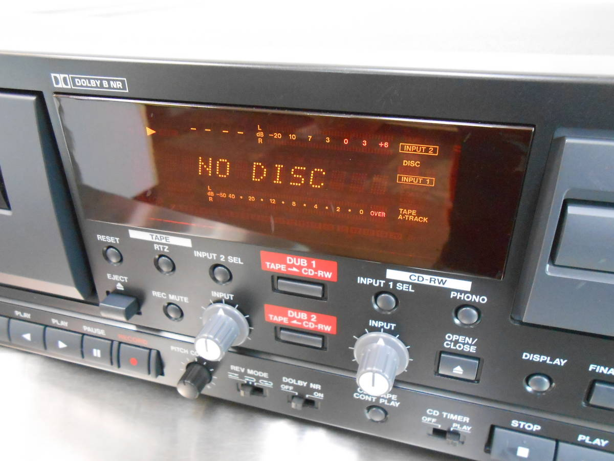 【TASCAM/タスカム】業務用 CDカセットレコーダー CC-222 (ジャンク)_画像2
