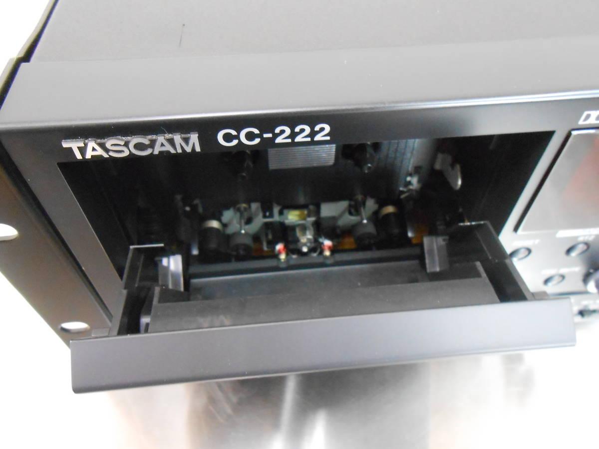 【TASCAM/タスカム】業務用 CDカセットレコーダー CC-222 (ジャンク)_画像4