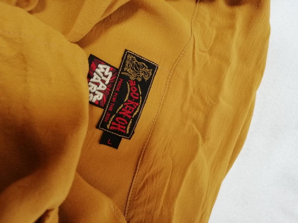 希少 BOU-KEN-OH 冒険王 旧リアルマッコイズ THE REAL McCOY'S スターウォーズ アロハシャツ ダースベイダー 半袖 L ブラウン