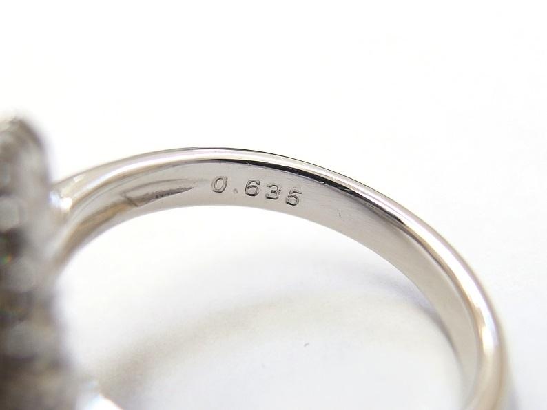 Pt900 黒真珠 12mm D0.635t 12号 リング 送料無料 /R3412_画像5