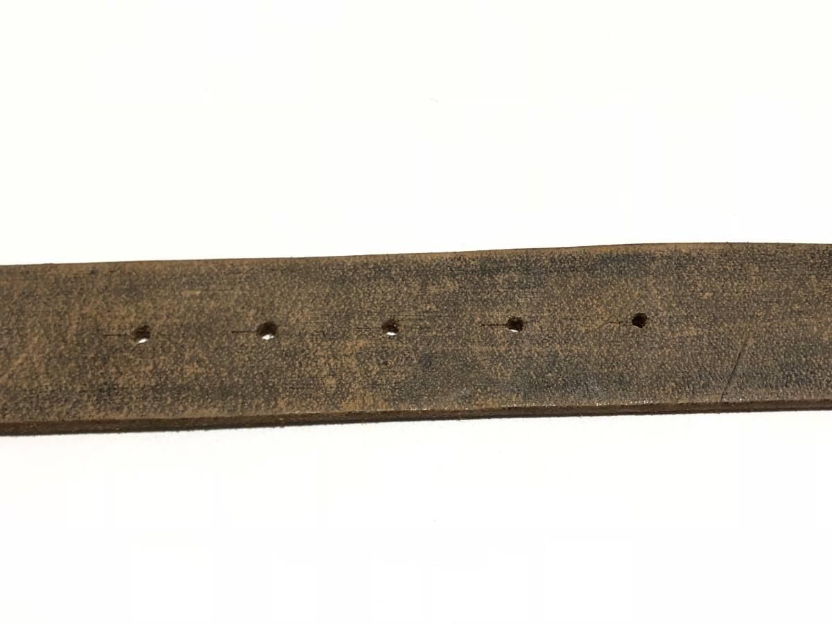 USA古着 バックル付き 本革 レザー ベルト W79~90cm程度 茶 メンズ ビンテージ ネイティブ 0621_画像4