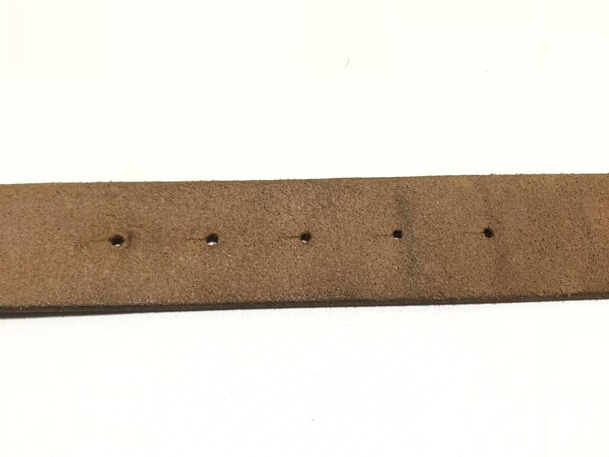 USA古着 バックル付き 本革 レザー ベルト W79~90cm程度 茶 メンズ ビンテージ ネイティブ 0621_画像5