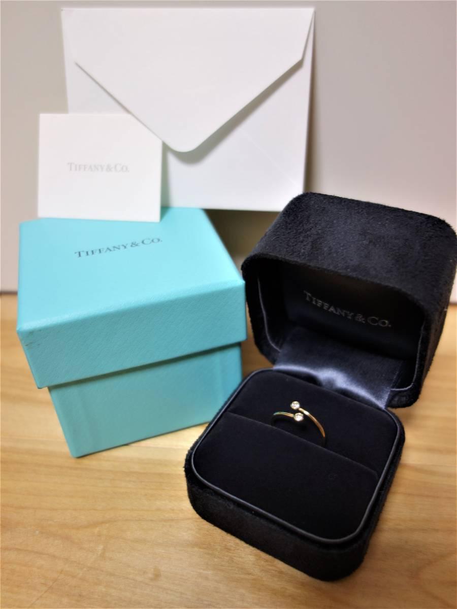 エルサペレッティ TIFFANY&CO ダイヤモンド フープ リング 11号_画像3