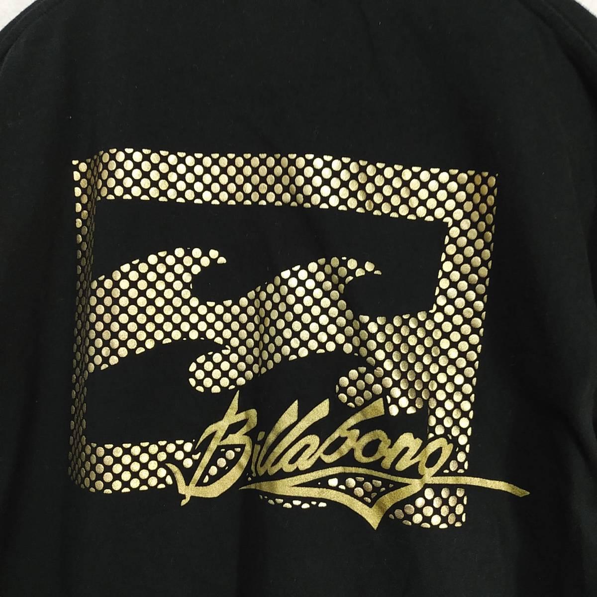 【platinum tailored by billabong】ビラボン Tシャツ メンズL ゴールド×ブラック ロゴ  190603-15333_画像2