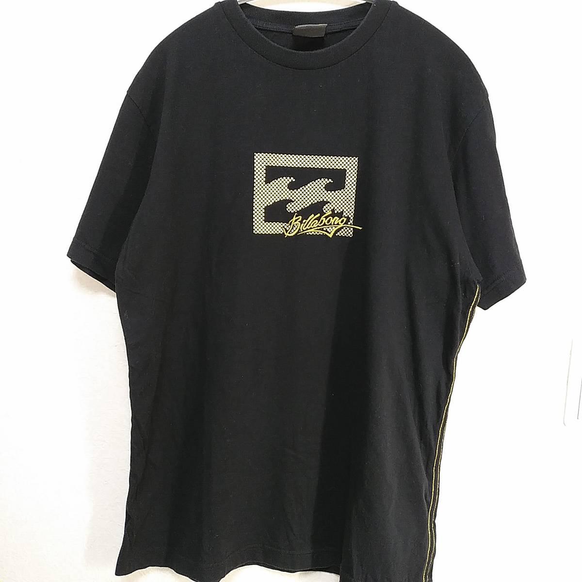 【platinum tailored by billabong】ビラボン Tシャツ メンズL ゴールド×ブラック ロゴ  190603-15333_画像3