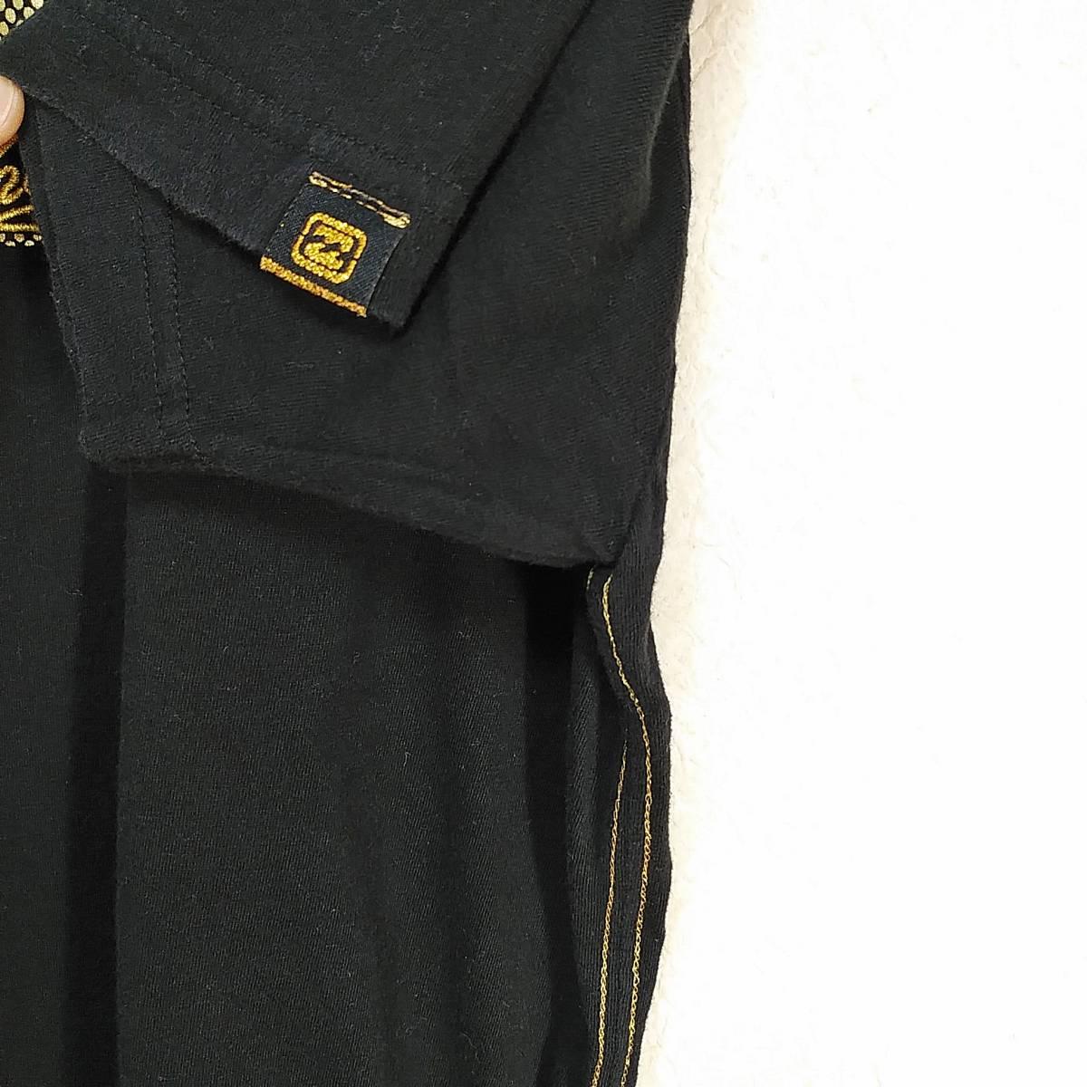 【platinum tailored by billabong】ビラボン Tシャツ メンズL ゴールド×ブラック ロゴ  190603-15333_画像5