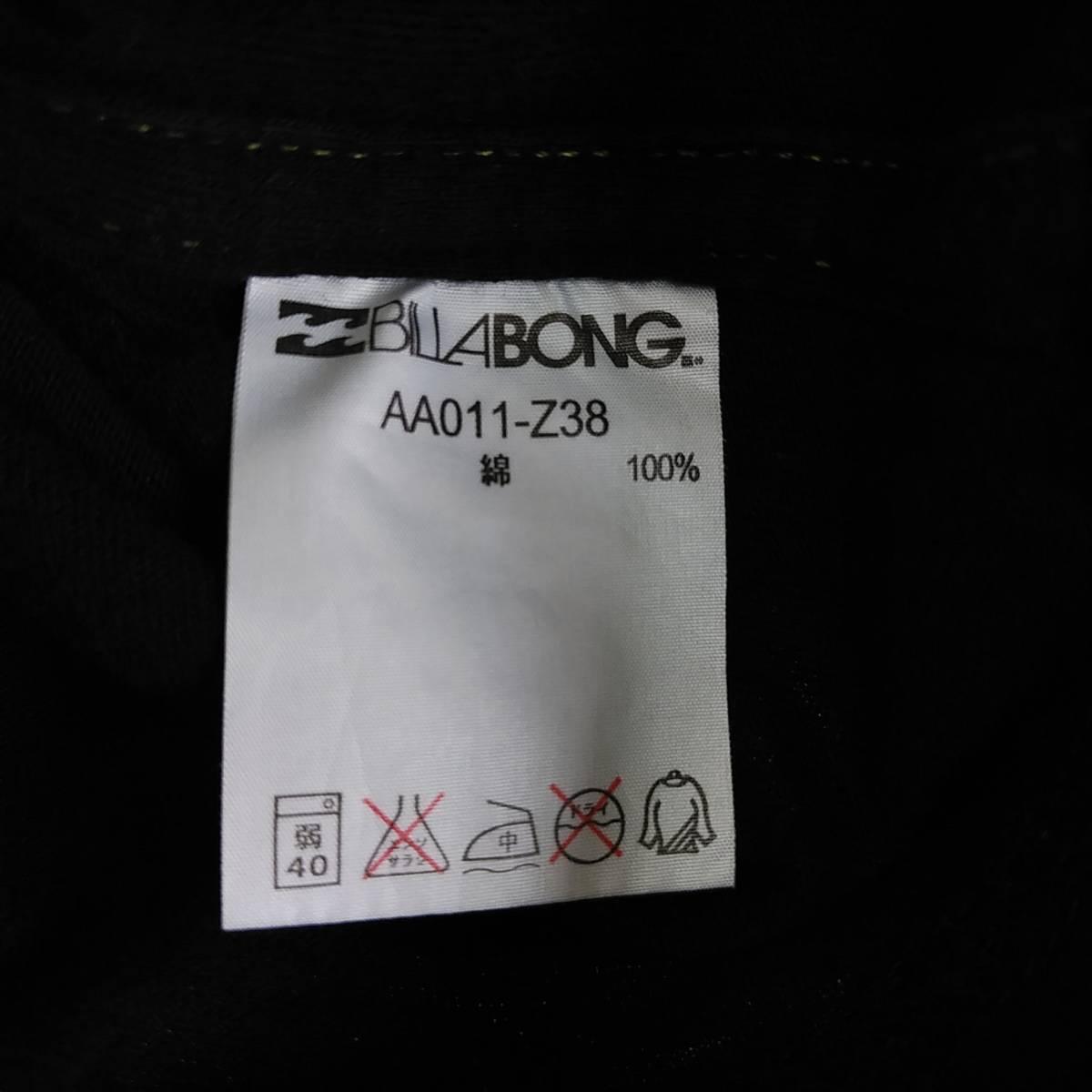 【platinum tailored by billabong】ビラボン Tシャツ メンズL ゴールド×ブラック ロゴ  190603-15333_画像7