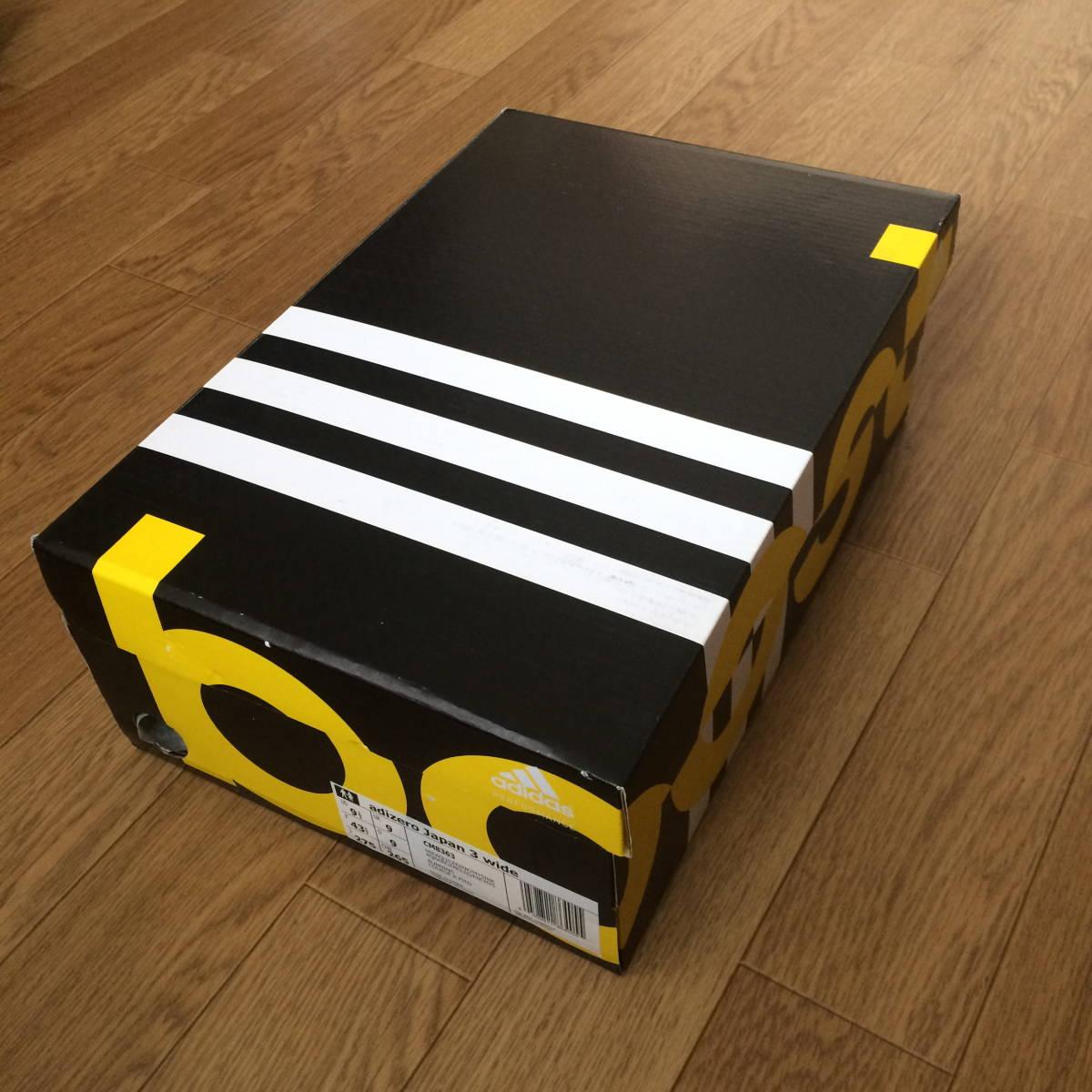 新品【国内正規 27.5cm】adidas adizero Japan 3 WIDE アディダス アディゼロ ジャパン 3 ワイド CM8363 ランニング【即決 即発送】_画像8