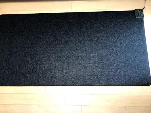 【美品】無印良品 MUJI ホットカーペット 1畳用 R-10M5 電気カーペット 黒 ブラック