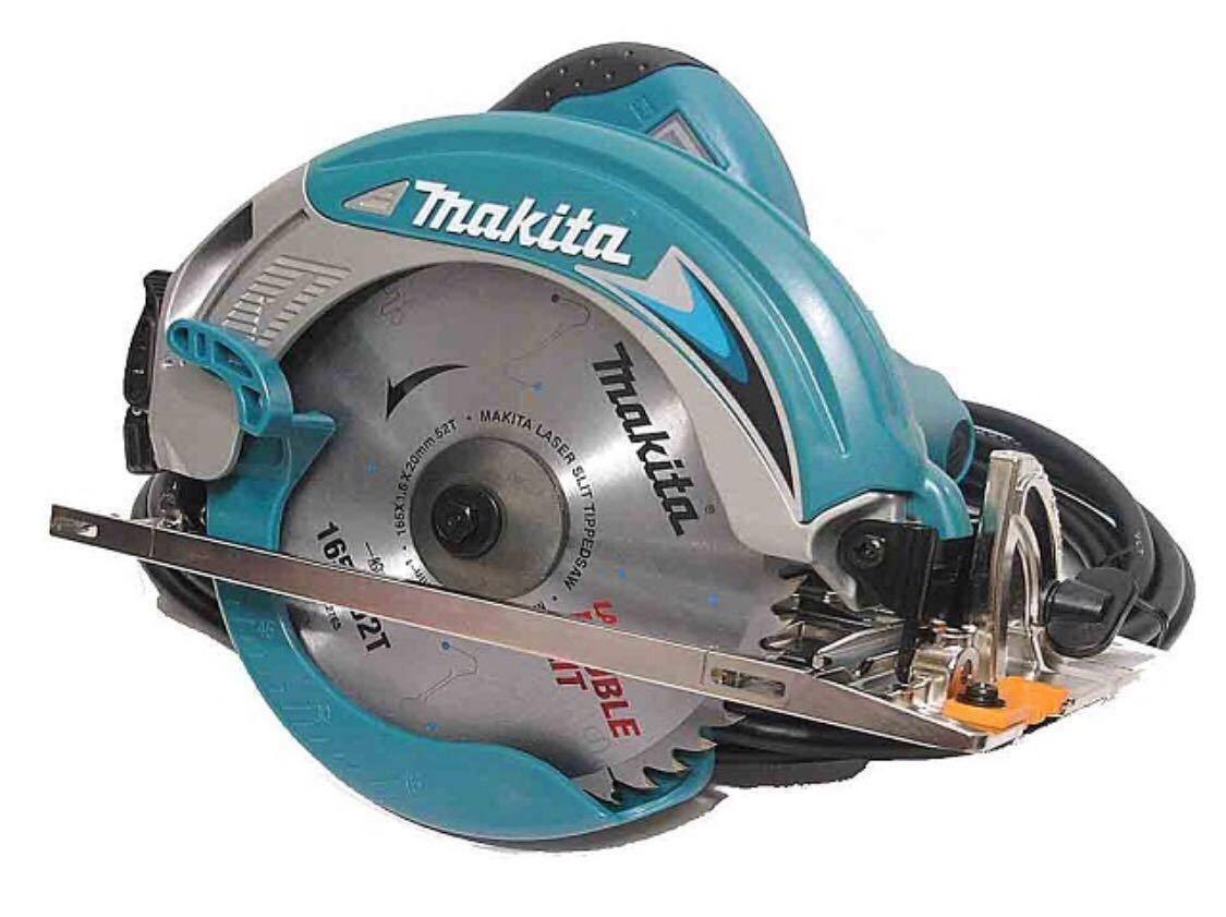 【新品・未使用】マキタ MAKITA 165mm 電気マルノコ 5637BAsp LEDライト 通電ランプ 二重絶縁 ブレーキ付 5637BA 丸のこ 丸ノコ 木材用刃付_画像2