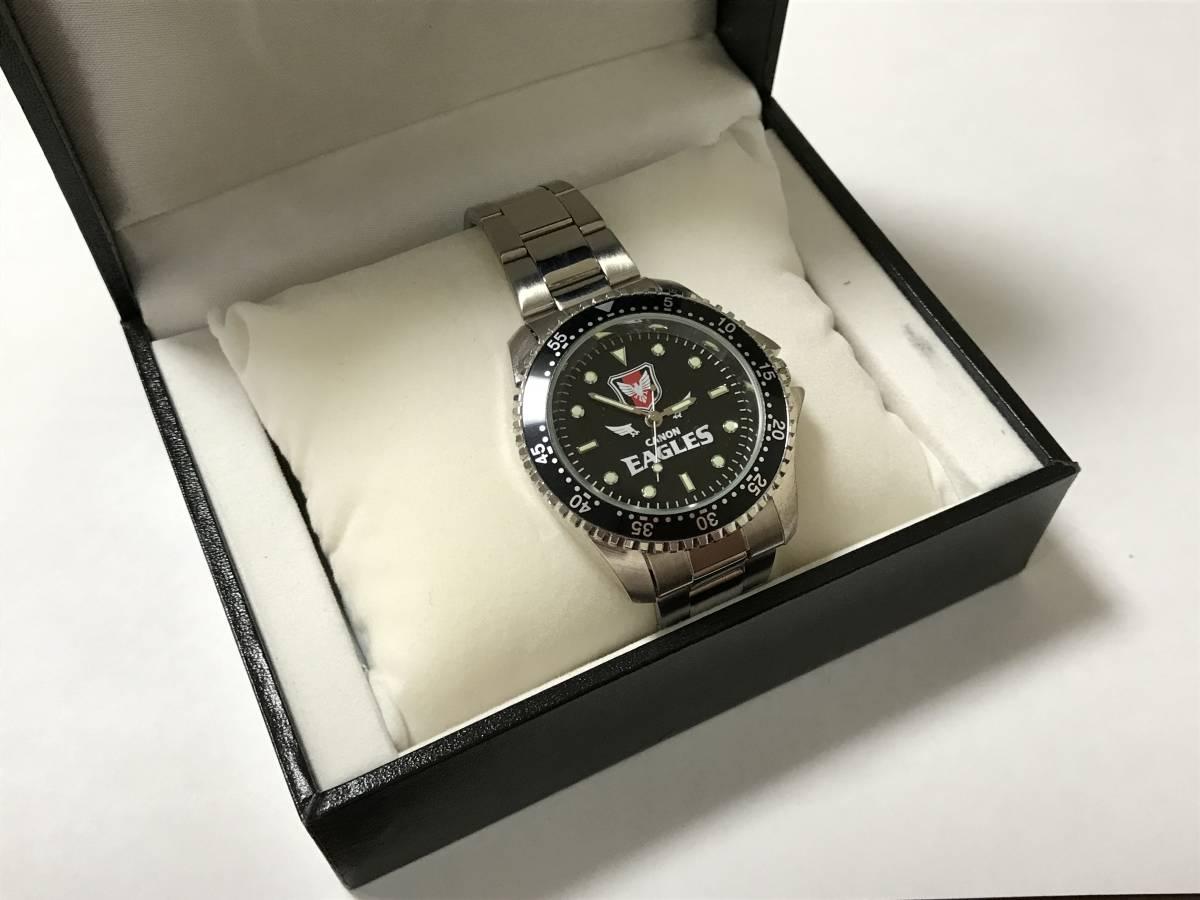 今だけ価格●非売品●キャノンイーグルス2012年トップリーグ昇格記念腕時計●新品未使用●Canonラグビー部●選手支給品●サンウルブズ
