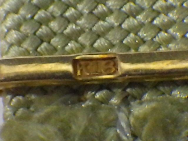 t9F138Z アンティーク 和装小物 帯留め 帯締め付 K18刻印有 ケース入り /52_画像4