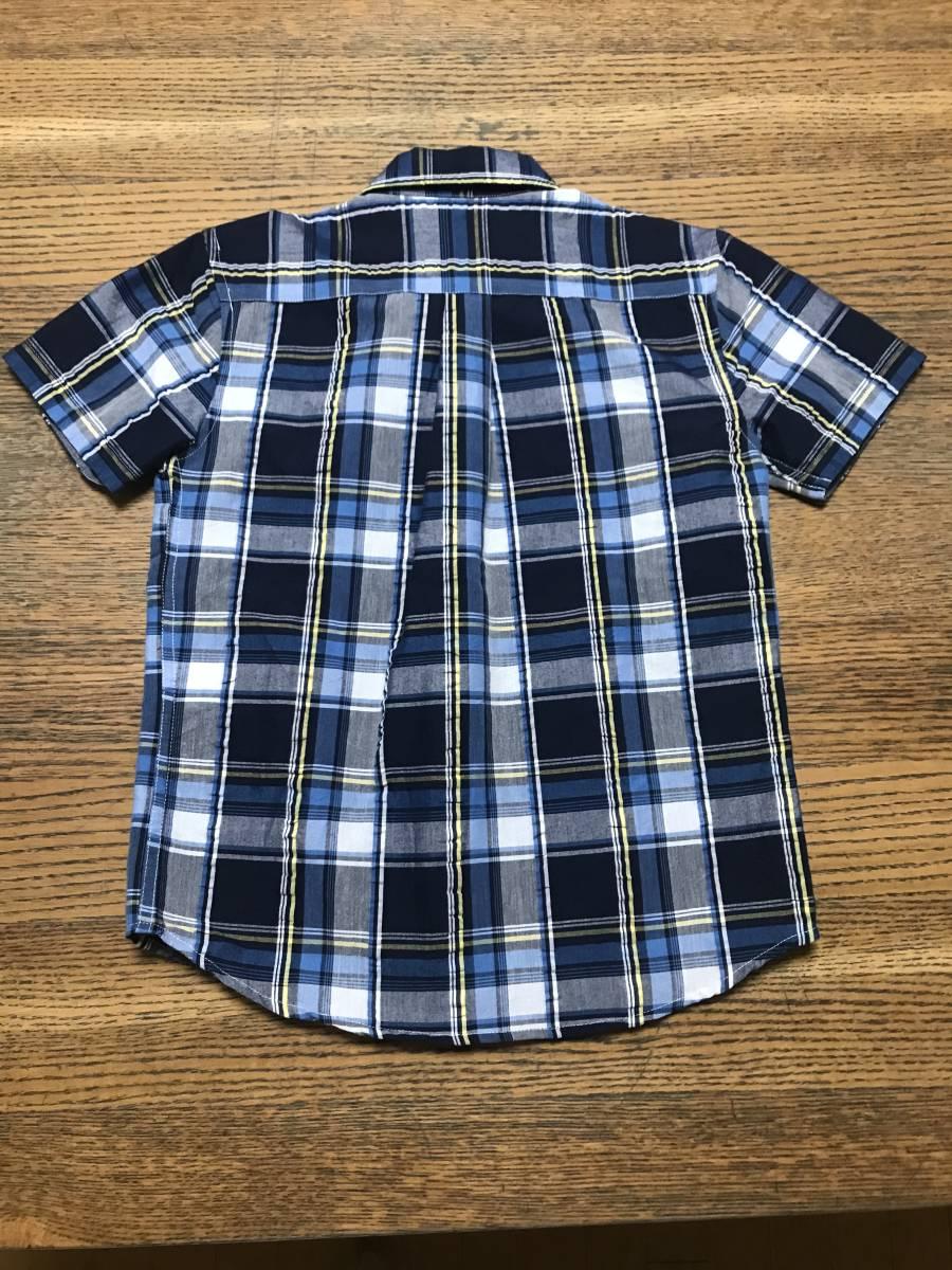 ★☆CONVERSE コンバース メンズ 胸ポケット付き チェック柄 半袖シャツ 140サイズ☆★_画像3