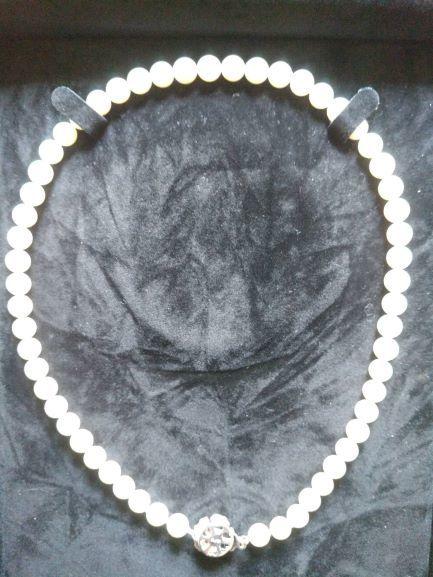 花珠 真珠 ネックレス ペンダント シルバー ブランド ミキモト? 5mm玉 約41cm _画像2