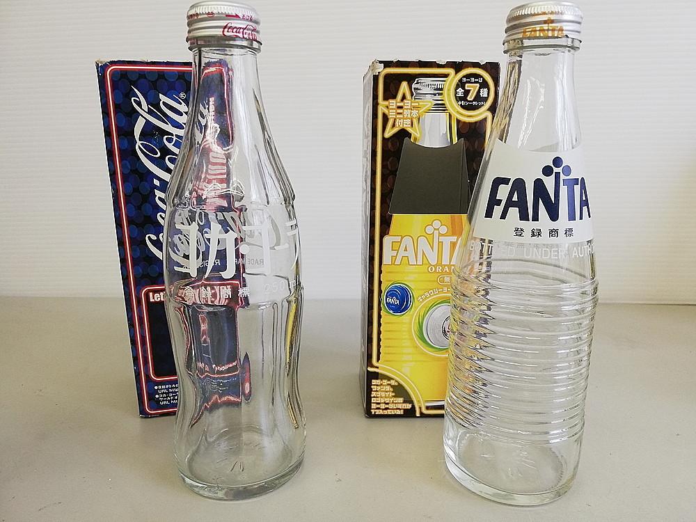 【レトロ】 ★ 復刻版 空き瓶セット ★ 『コカ・コーラ Coca-Cola』 『スプライト Sprite』 『ファンタ Fanta』 『KIRIN 麒麟』_画像2