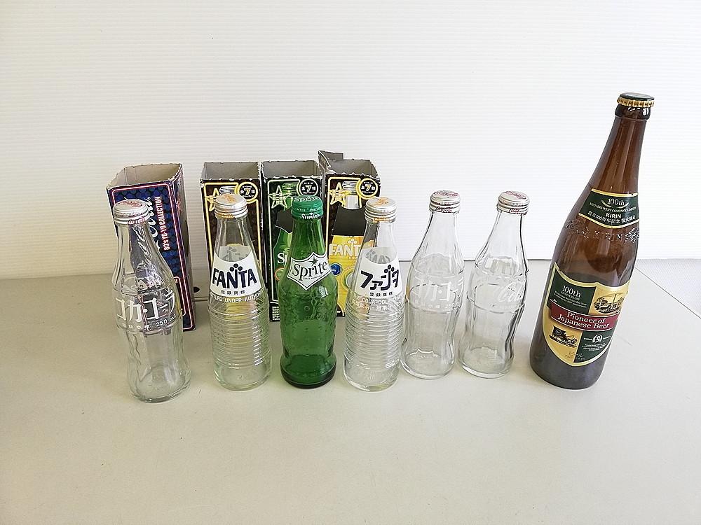 【レトロ】 ★ 復刻版 空き瓶セット ★ 『コカ・コーラ Coca-Cola』 『スプライト Sprite』 『ファンタ Fanta』 『KIRIN 麒麟』_画像1