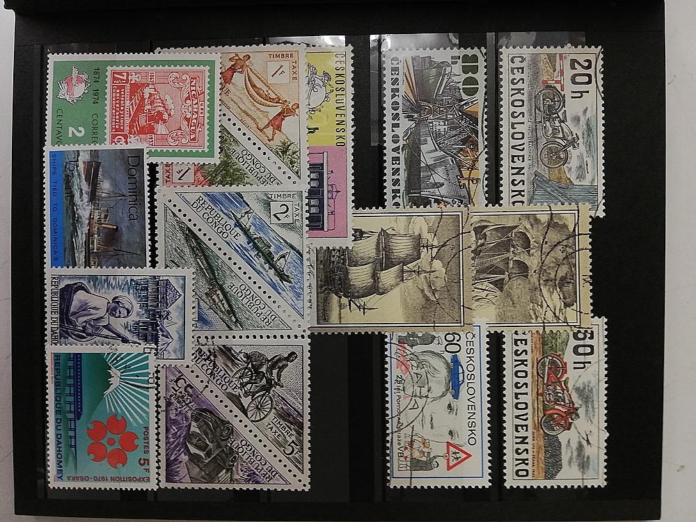 【お買い得品】★ 切手 / stampコレクション ★ stockbook 100枚以上 乗り物(船・自動車など)シリーズ 海外 ヴィンテージ