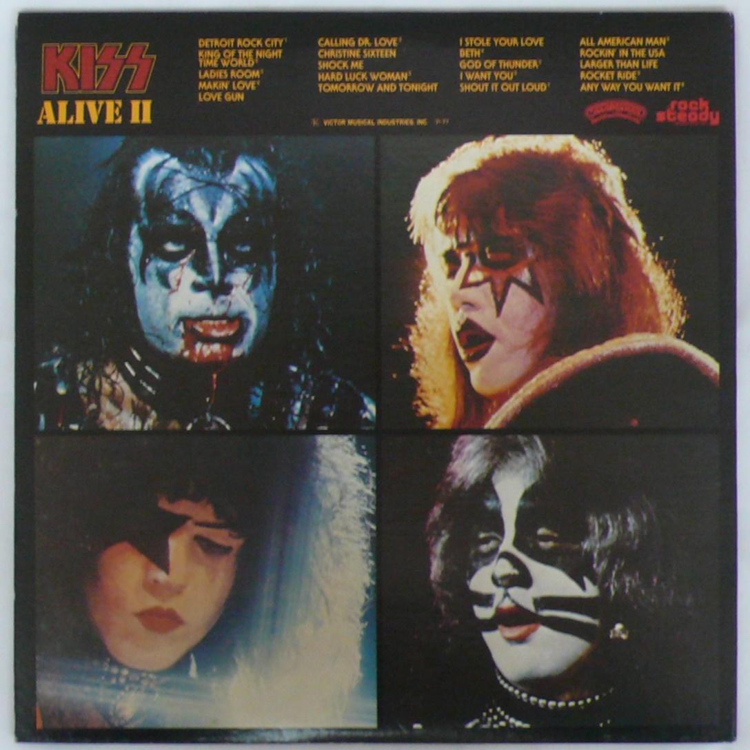【ワンコインセール】 KISS ALIVE Ⅱ VIP-9529~30 LP レコード 2枚組 キッス アライブ II_画像2