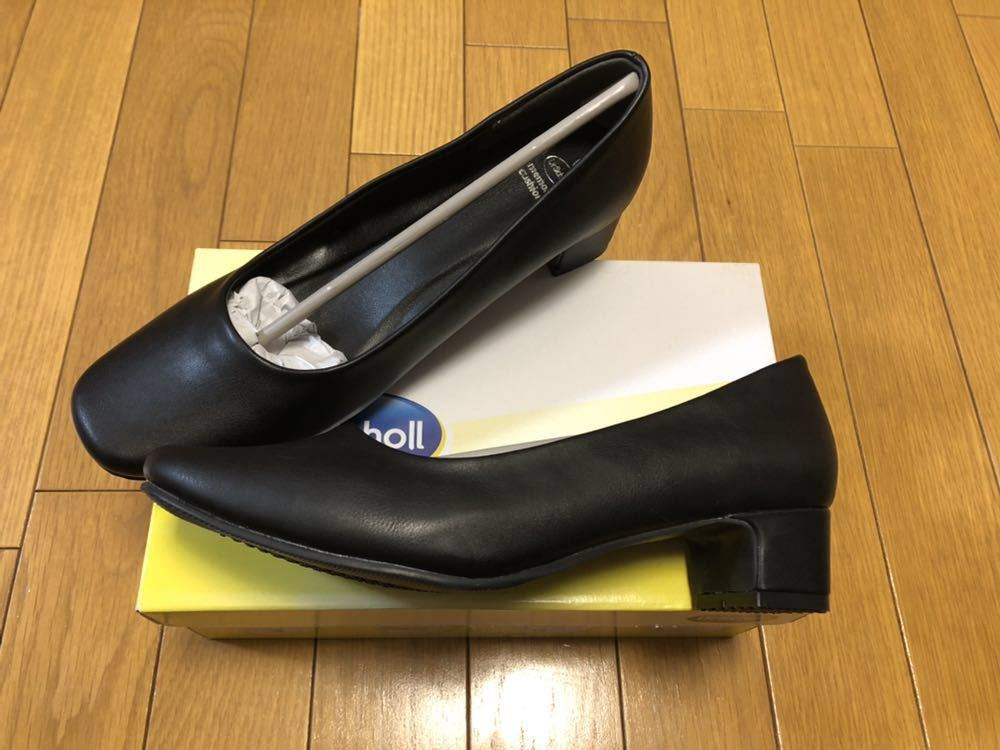 新品 Dr.Scholl Round Pumps スクエアパンプス 23cm ブラック 形状記憶素材 ドクターショール ビジネス フォーマル _画像4