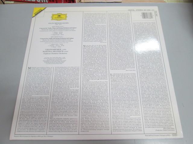 希少!美品!1989年 独DGオリジナル アルゲリッチ クレーメル メンデルスゾーン 協奏曲 LP_画像2