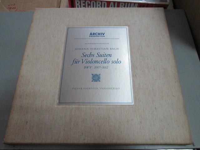 希少!美品!独アルヒーフ 初期盤 3LPBOX!フルニエ 無伴奏チェロ組曲全集