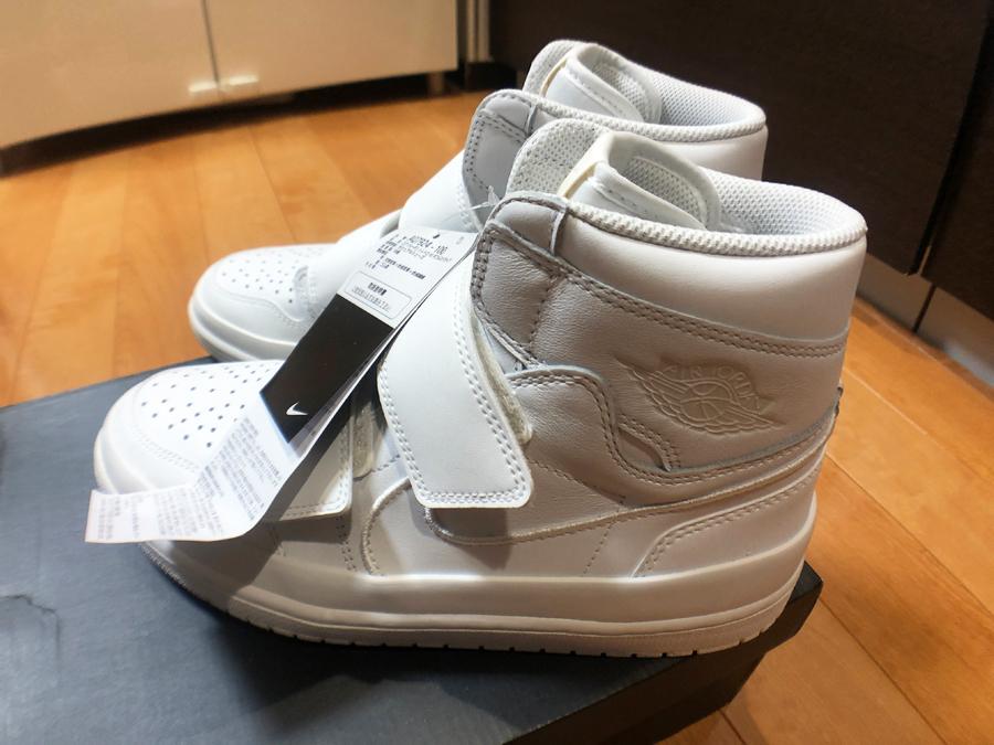 1円スタート最落無し【SNKRS購入品】希少な白 NIKE ナイキ エアジョーダン 1 ダブルストラップ Air Jordan 1 Double Strap 28.0cm 未使用_画像3