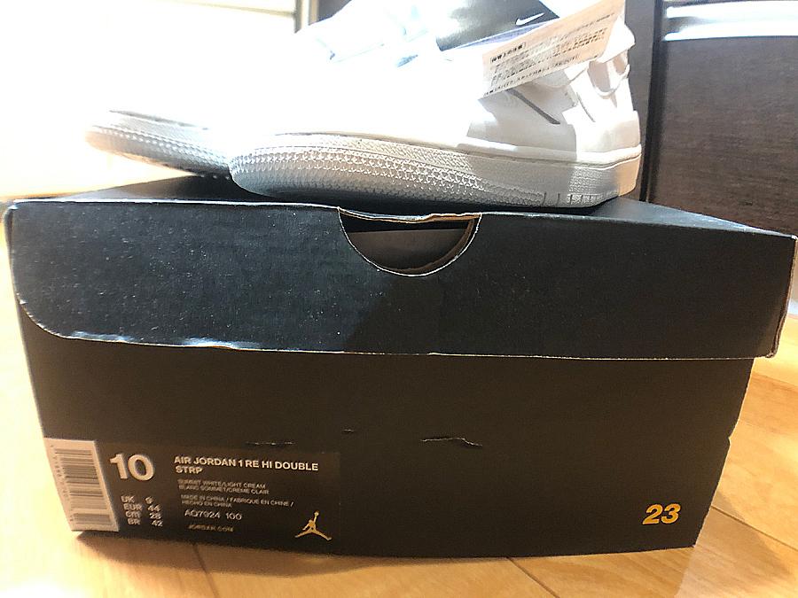 1円スタート最落無し【SNKRS購入品】希少な白 NIKE ナイキ エアジョーダン 1 ダブルストラップ Air Jordan 1 Double Strap 28.0cm 未使用_画像7