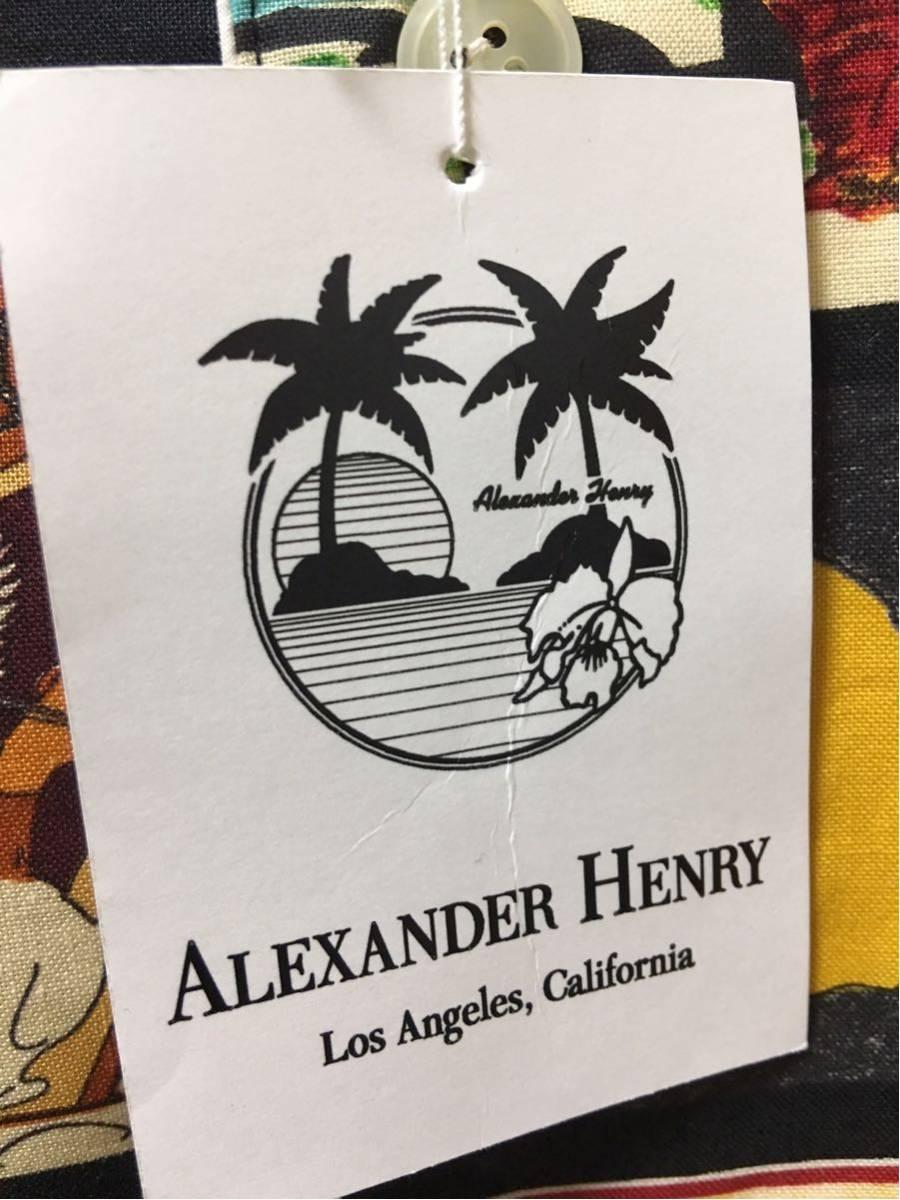 アレキサンダーヘンリー ALEXANDER HENRY カウボーイ 柄パジャマ L 男前 総柄 長袖 _画像8