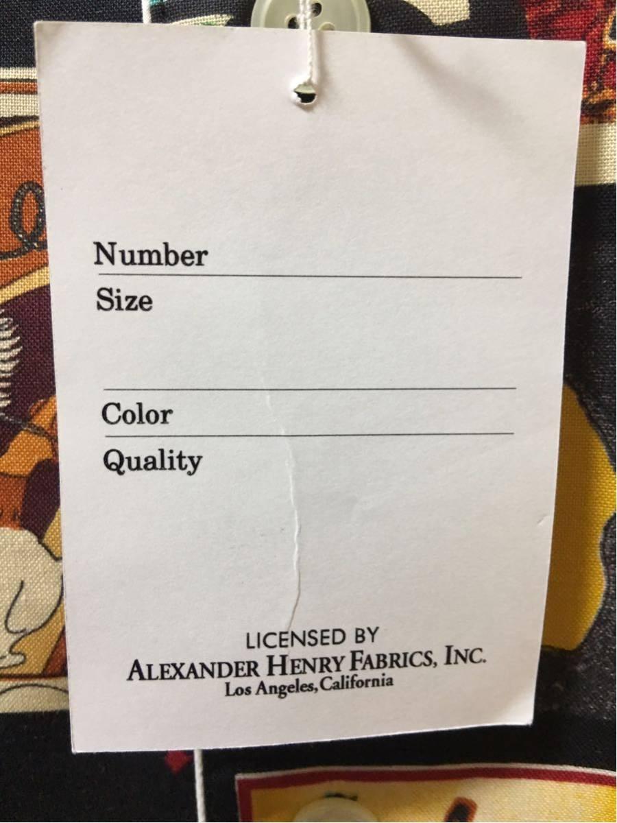 アレキサンダーヘンリー ALEXANDER HENRY カウボーイ 柄パジャマ L 男前 総柄 長袖 _画像9