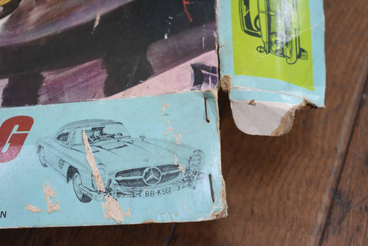 ドール 昭和レトロ マルサン HO MOTORING&RACING 欠品有り スロットカーセット 当時物 ジャンク_画像6