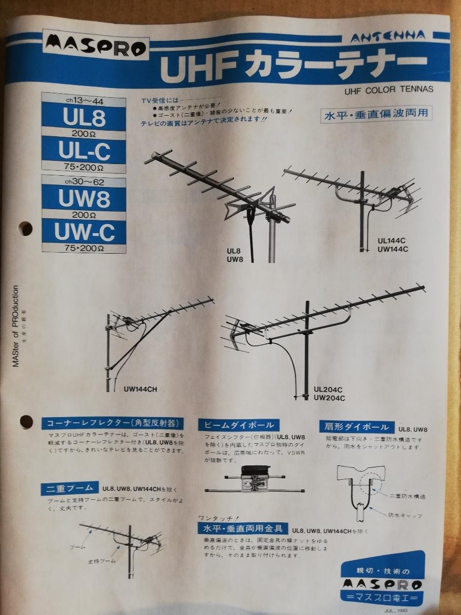 地デジも対応【未使用保管品】UHFアンテナ マスプロ UW144C 元箱取説付_画像4