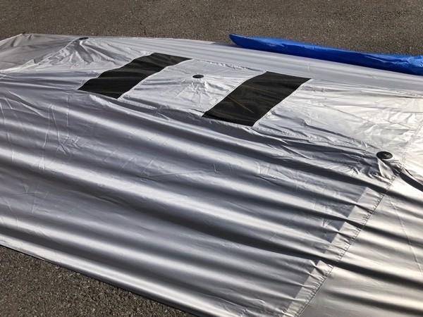 15 保管品【 CAR SUNCLOSE 】車用サンシェード 日よけ 吸盤取付式 キャンプ 海水浴 160_画像3