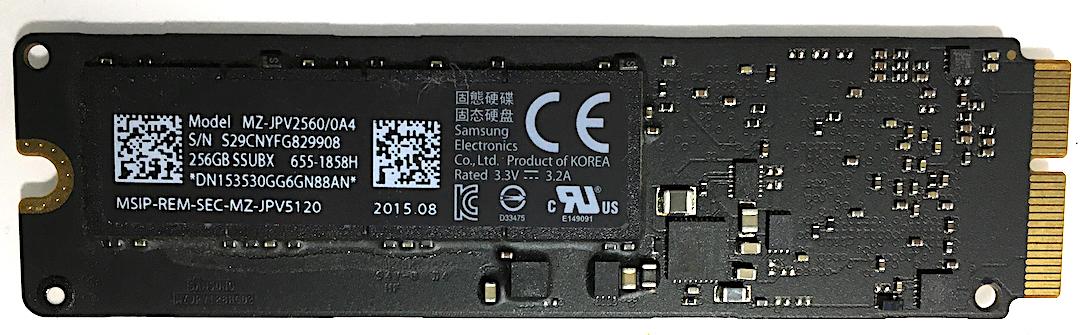Apple純正 高速版 256GB PCIe SSD MacBook Pro,MacBook Air,Mac Pro,Mac mini専用
