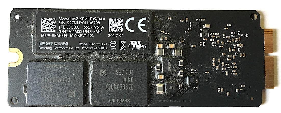 Apple純正 高速版 1TB PCIe SSD MacBook Pro,Mac Pro,Mac mini専用