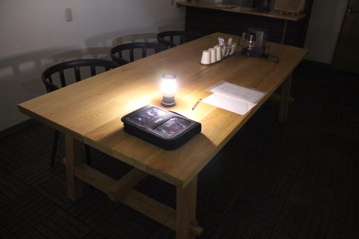 イケア イケヤ ダイニング テーブル モッケルビー イス10脚セット IKEA チェア 139930円 会議ミーティング オーク 無垢 引き取り