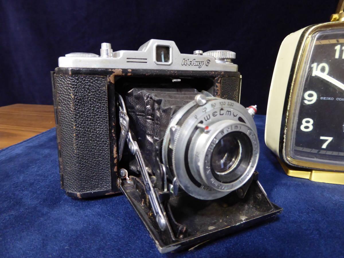 【昭和レトロ】SEIKO セイコー置時計(ゼンマイ式)×2個 WELMY6(カメラ)_画像2