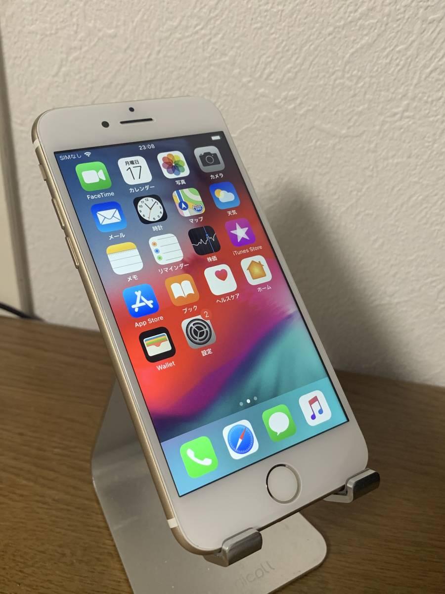 バッテリー 82% 利用制限◯ au 中古美品 iPhone7 128GB ゴールド アクティベートロック解除済み IOS 12.3