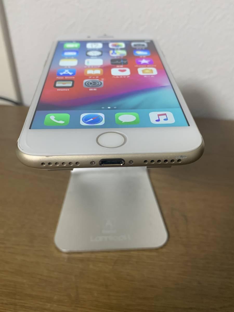 バッテリー 82% 利用制限◯ au 中古美品 iPhone7 128GB ゴールド アクティベートロック解除済み IOS 12.3_画像2