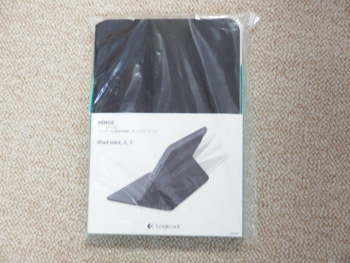 新品 LOGICOOL  フレックスケース  iCO740R ブラック 即決 フレックス マルチアングル ケーススタンド_画像1
