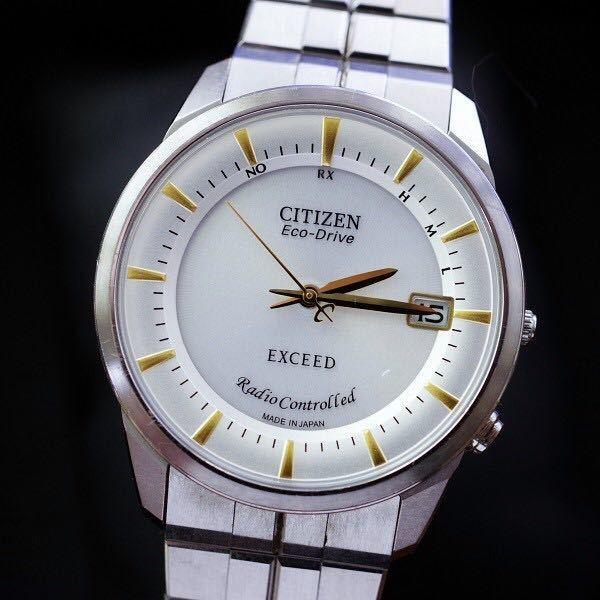 CITIZEN ◇ EXCEED 美品 エコドライブ 電波 ◇ デュラテクト EBG74-2376