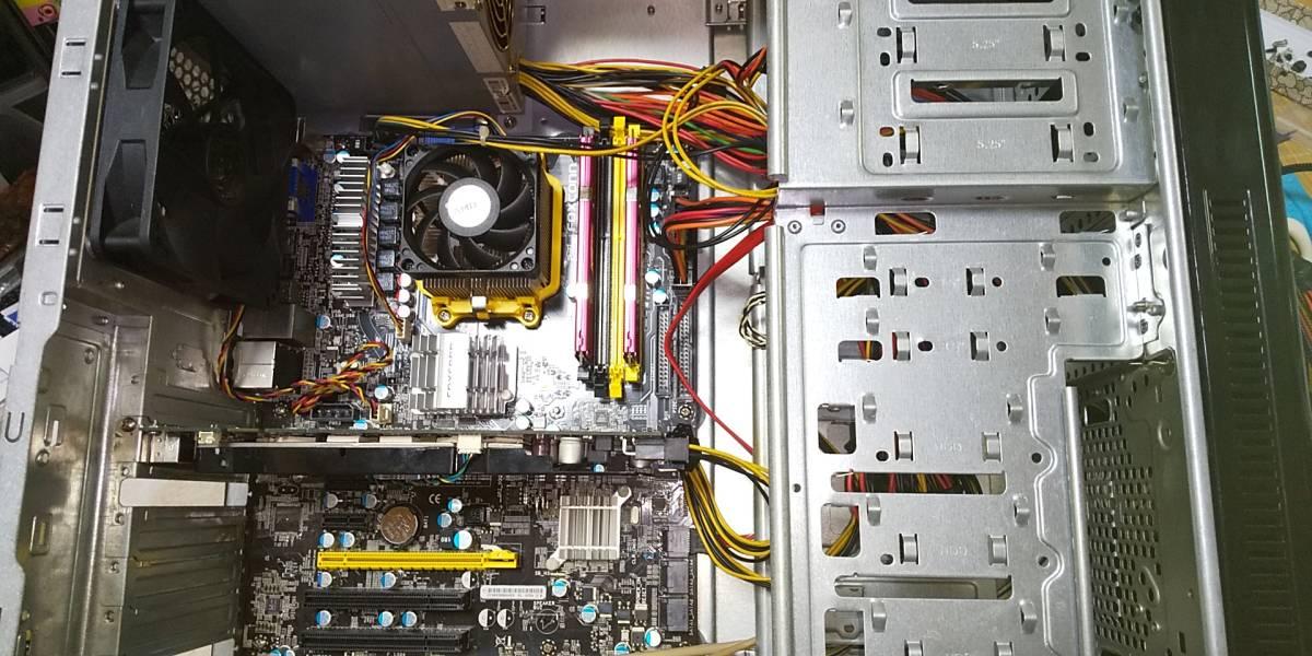 【ジャンク】自作デスクトップ Phenom II X2 550 GeForce 9800 GT メモリ4GB【電源入りませんでした】 _画像4