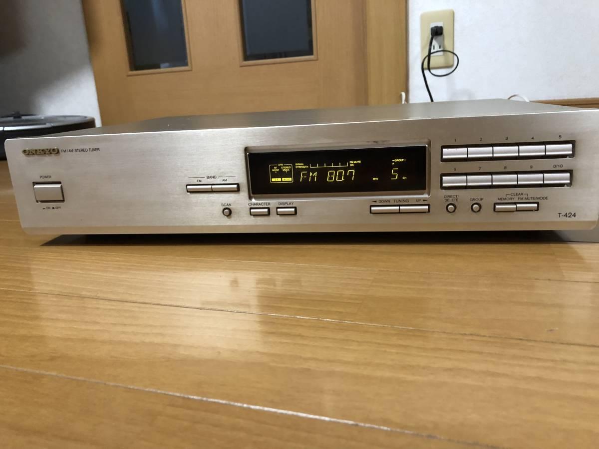 ONKYO オンキョー AM/FMチューナー T-424 動作品
