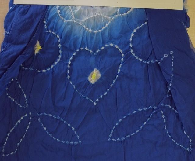 新品 男児 子供 兵児帯 へこ帯 3m 大巾 長尺 ナイロン100% 藍 21_画像5