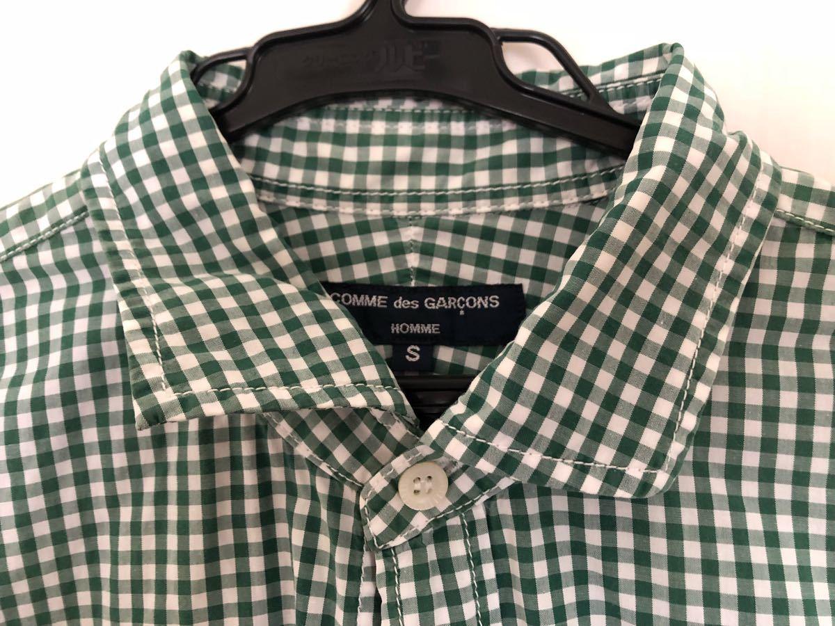 ★コムデギャルソン Sサイズ ブロックチェックロングスリーブシャツ ★ 中古品_画像2