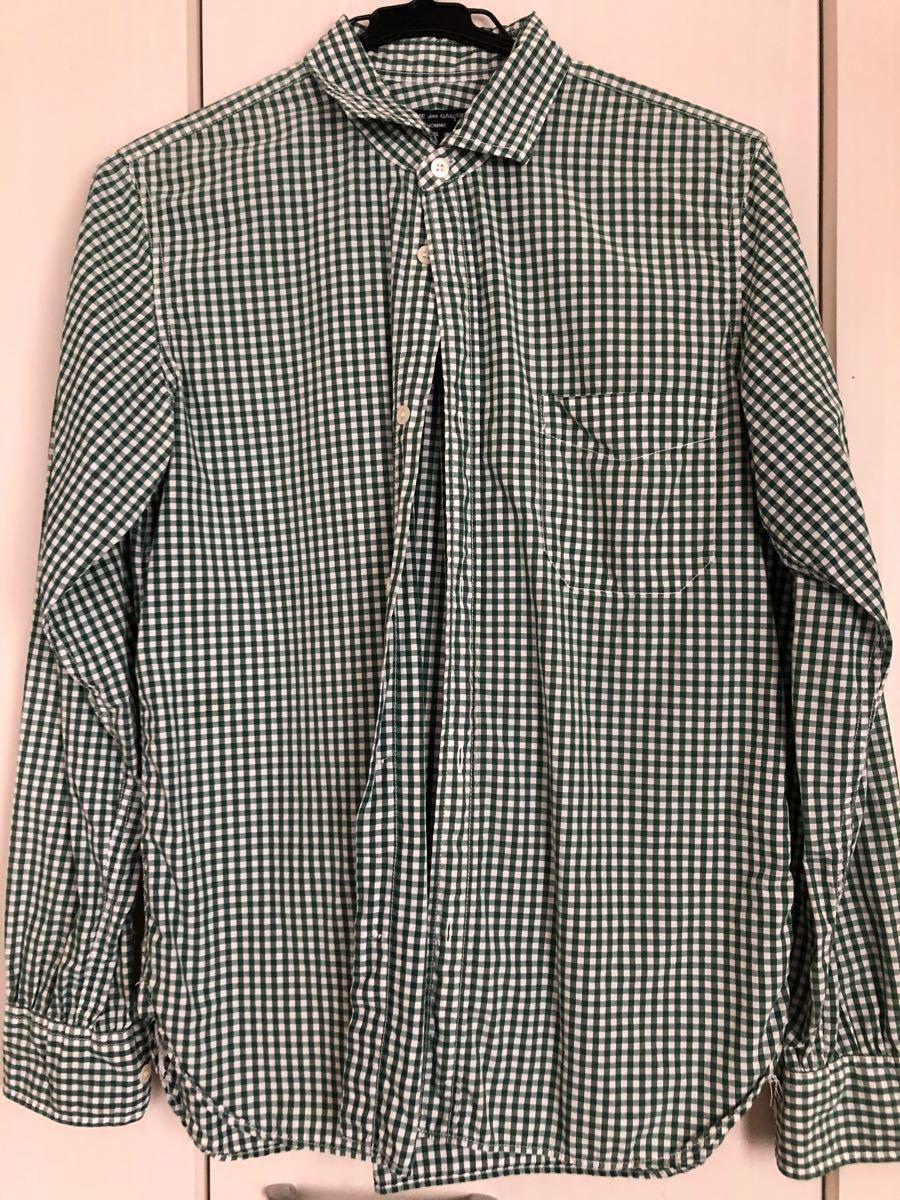 ★コムデギャルソン Sサイズ ブロックチェックロングスリーブシャツ ★ 中古品