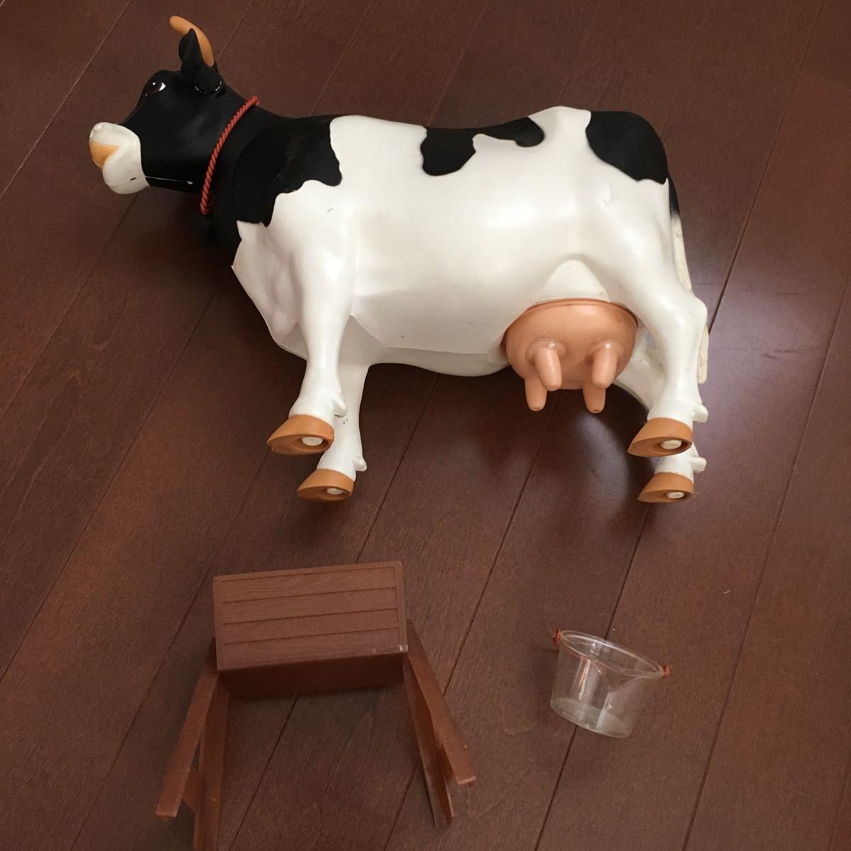 入手困難!ミルクモウモウ ツクダオリジナル 昭和レトロ ビンテージ玩具 MILK MOUMOU 知育玩具 牛 フィギュア ホルスタイン乳牛 搾乳_画像10